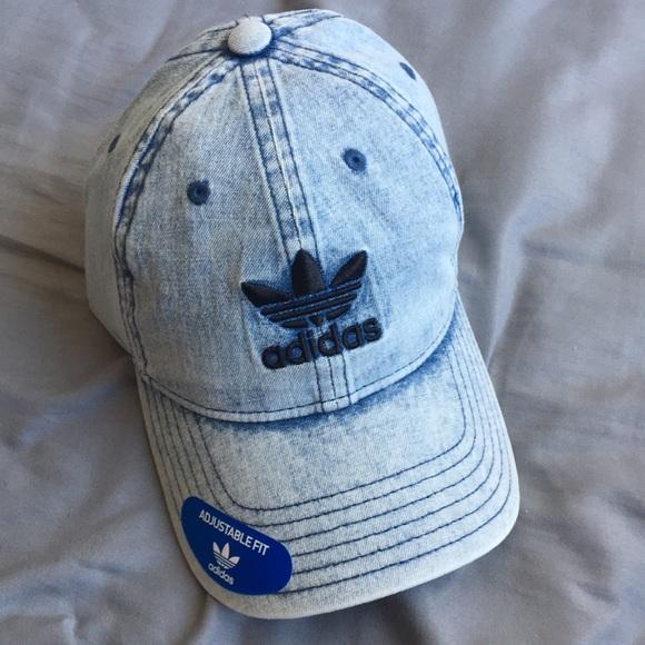 NWT Adidas Originals Denim Cap Hat 75e45e5cacb